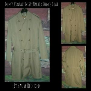 Vintage Misty Harbor Trench Coat Removable Lining